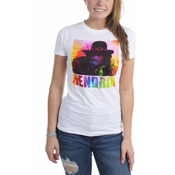 Jimi Hendrix - Womens Psychedelic Square T-Shirt