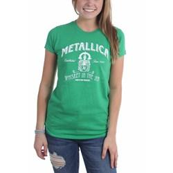 Metallica - Womens Green Whiskey In The Jar T-Shirt
