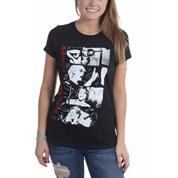 5 Seconds Of Summer - Womens Stacked Photos T-Shirt