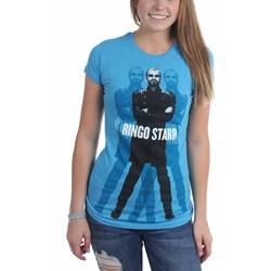 Ringo Starr - Womens Ringo Standing Blue T. T-Shirt