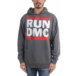 Run Dmc - Mens Run Dmc Grey Hoodie