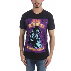 Jimi Hendrix - Mens Black Light T-Shirt