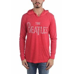 The Beatles - Mens Song Titles Logo Hoodie