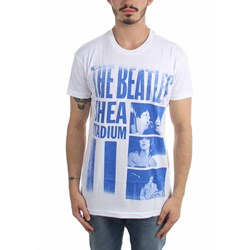 The Beatles - Mens Shea Stadium White T-Shirt