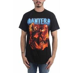 Pantera - Mens Band Flames T-Shirt