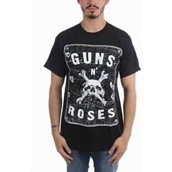 Guns N Roses - Mens Skeleton L.A. Label T-Shirt