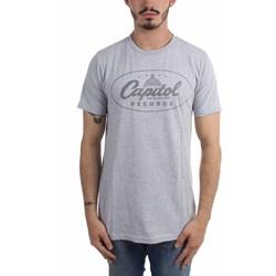 Capitol Records - Mens Classic Label Logo Grey T-Shirt
