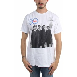 The Beatles - Mens 50Th Side Logo T-Shirt