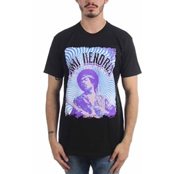 Jimi Hendrix - Mens Blue Waves T-Shirt