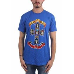 Guns N Roses - Mens Cross On Royal T-Shirt