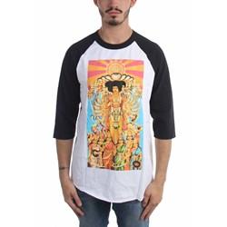 Jimi Hendrix - Mens Raglan (Elevated) Raglan Shirt