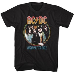 Ac/Dc - Mens Highway To Hell Tricolor T-Shirt