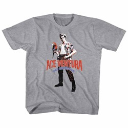 Ace Ventura - Youth Red Black Blue Ace T-Shirt