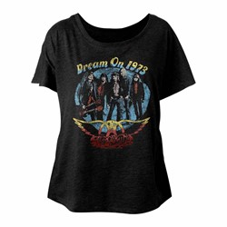Aerosmith - Womens Dream On Triblend Dolman T-Shirt