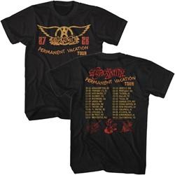 Aerosmith - Mens Permanent Tour 87-88 T-Shirt