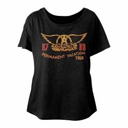 Aerosmith - Womens Pv Tour 87-88 Triblend Dolman T-Shirt