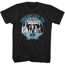 Aerosmith - Mens Dream On Blue & White T-Shirt