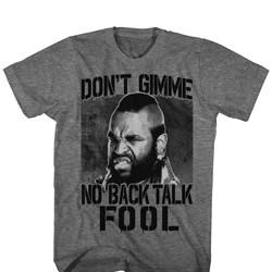 Mr. T - Mens No Back Talk T-Shirt