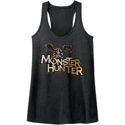 Monster Hunters - Womens Mh Logo Heather Racerback Tank
