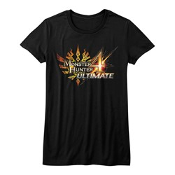 Monster Hunters - Juniors Mh4U Logo T-Shirt