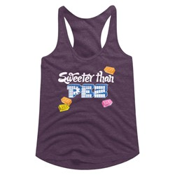 Pez - Womens Sweeter Than Triblend Racerback Tank