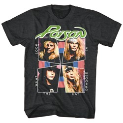 Poison - Mens Cat Dragged In T-Shirt