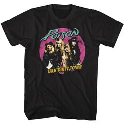 Poison - Mens Pink Circle T-Shirt