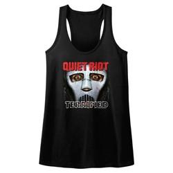 Quiet Riot - Womens Terrified Raw Edge Racerback Tank