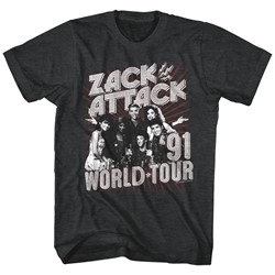 Saved By The Bell - Mens Zack Attack World Tour T-Shirt