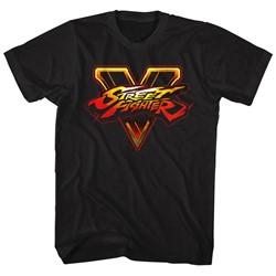 Street Fighter - Mens Sfv Logo T-Shirt