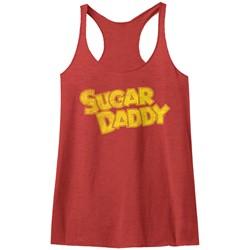 Tootsie Roll - Womens Yellow Sugar Daddy Raw Edge Racerback Tank