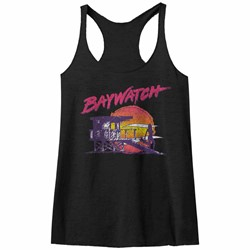 Baywatch - Womens Neonwatch Raw Edge Racerback Tank