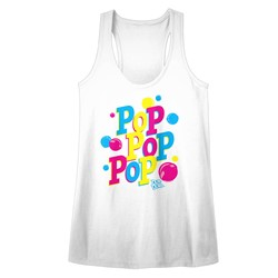 Dum Dums - Womens Pop Pop Pop Heather Racerback Tank