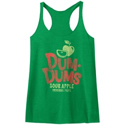 Dum Dums - Womens Sour Apple Raw Edge Racerback Tank