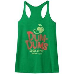 Dum Dums - Womens Sour Apple Raw Edge Racerback Tank