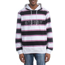 Stussy - Mens Heavy Jersey Striped Hoodie