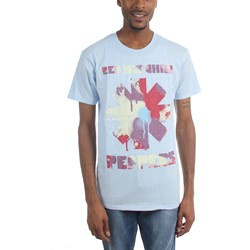 Red Hot Chili Peppers - Mens Paint Blue T-Shirt