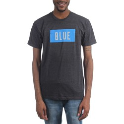 Rolling Stones - Mens Blue Box Text T-Shirt
