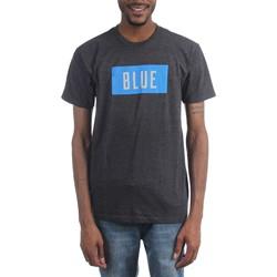 Rolling Stones - Mens Blue Box Text T-Shirt