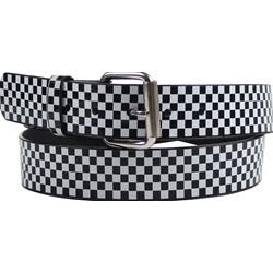 Black/White Checkered Syn Leather Belt by BodyPunks