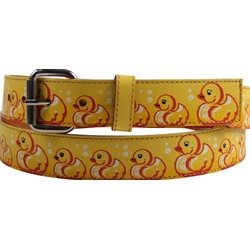 Rubber Ducky Syn Leather Belt in Yellow by BodyPunks