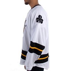 Dropkick Murphys Mens 20 Hockey Away Jersey (White) Long Sleeve T Shirt