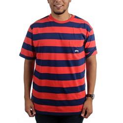 Stussy - Mens Range Stripe Pocket T-Shirt