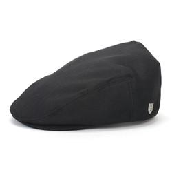 Hooligan Hat in Black Herringbone Twill by Brixton