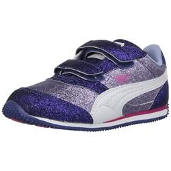 PUMA Girls' Steeple Glitz Glam V Inf Sneaker