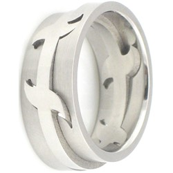 Stainless Steel Ring by BodyPUNKS (SSRX0290)