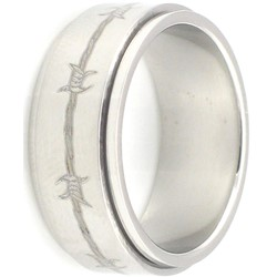 Stainless Steel Ring by BodyPUNKS (SSRX0415)