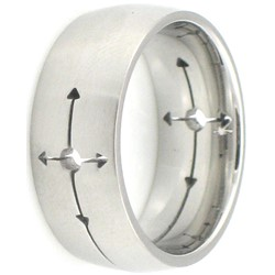 Stainless Steel Ring by BodyPUNKS (SSRX0416)