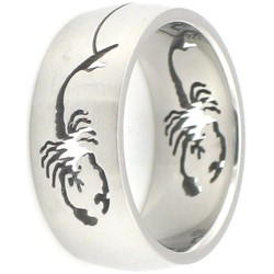 Stainless Steel Ring by BodyPUNKS (SSRX0458)