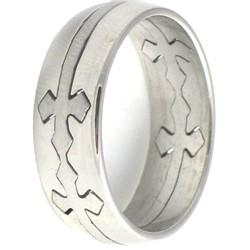 Stainless Steel Ring by BodyPUNKS (SSRX0583)